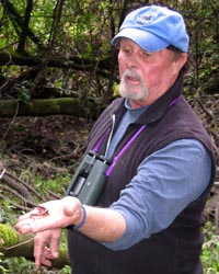 Rich Stallcup with Ensatina