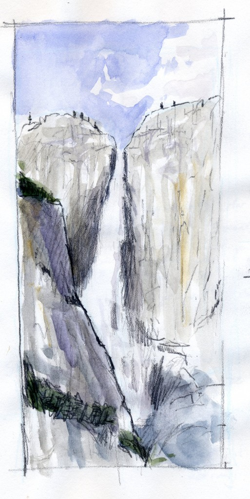 Yosemite Falls Watercolor